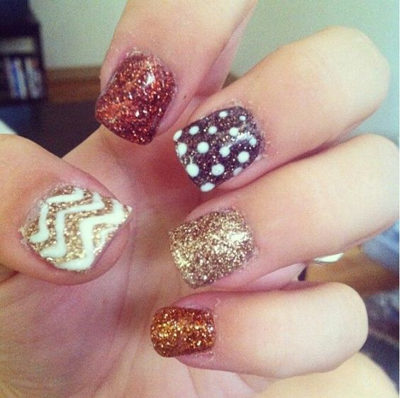 fall nails chevron.. Would be could on toes | #Fierce !! | Pinterest ...