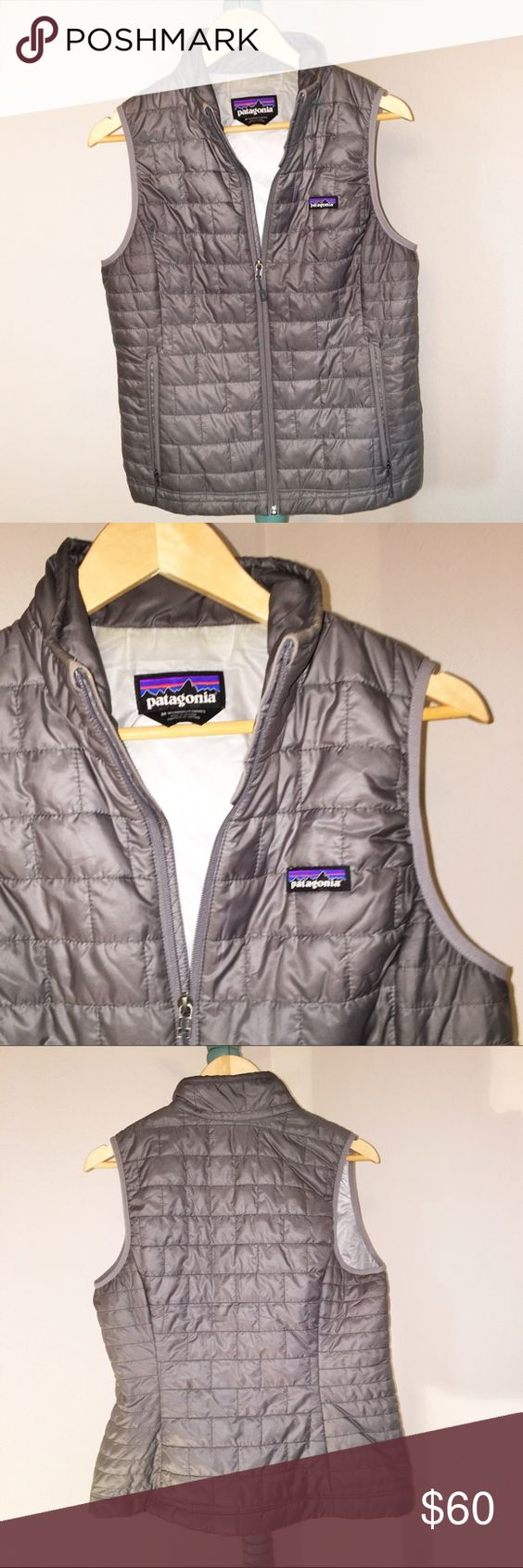 Patagonia Nana Puff Vest in Feather Gray Women's medium. Purchased at REI in February. Kinda hate to see it go, but lost my job and it is pretty dang hot in Louisiana! Perfect condition. Price is firm. Enjoy. 😊 Jackets & Coats Vests