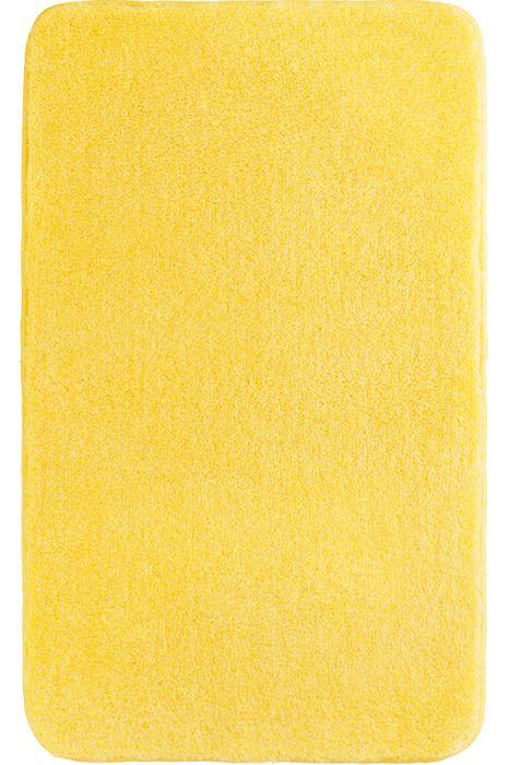 Der flauschige Badteppich Lex in gelb hat eine Florhöhe von 32 mm und ist aus Polyacryl ultrasoft. Der Teppich ist waschbar bei 40°C und geeignet für Fußbodenheizung. Die Rückseite ist rutschhemmend beschichtet.