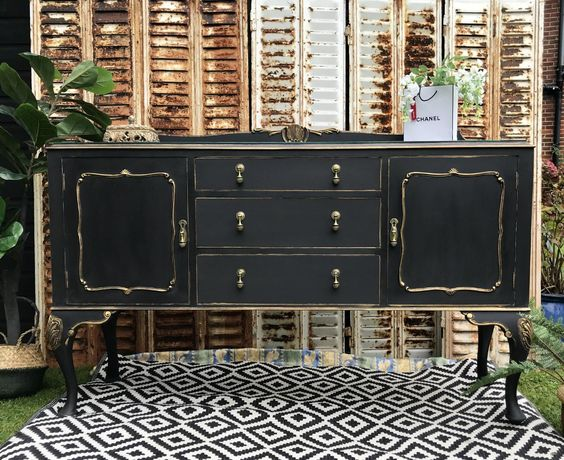 Vintage Sideboard Buffet Drinks cabinet TV unit Farmhouse Barn | Etsy