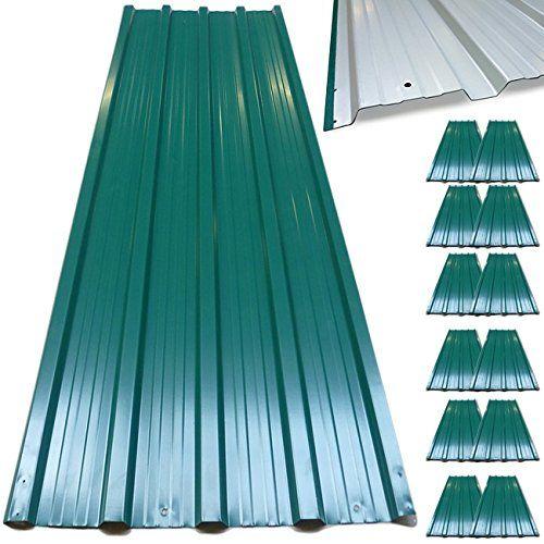 12x Plaques Toles Profilee Ondulee 129 X 45 Cm 7m Bricolage Toit Cabane Abri En 2020 Toit En Metal Toiture En Tole Ondulee Et Toiture En Aluminium