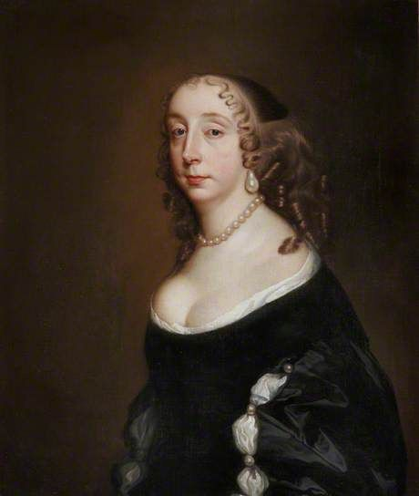 Anne St John was born on November 5, 1614, the second child and eldest daughter of Sir John St John and his wife Anne Leighton. She first married Sir Francis Lee, Baron of Ditchley in 1632, and after his death in 1639, she married Henry Wilmot. She was a cousin of Barabra Villiers and mother of infamous poet Lord Rochester.: