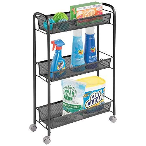 Mdesign Portable Rolling Laundry Utility Cart Organizer T Https