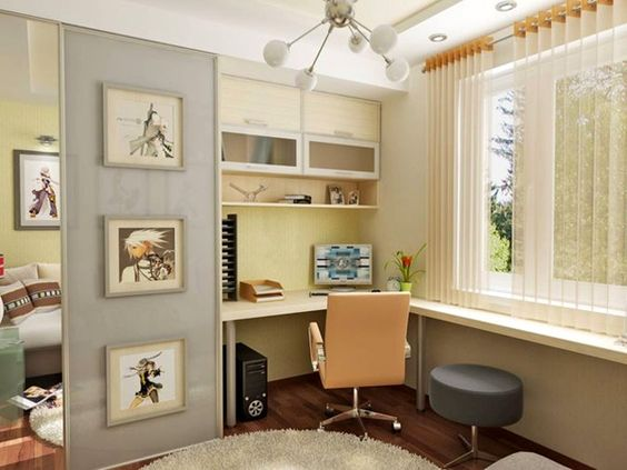 Study room simple corner desk ideas for small spaces - Small bedroom study ideas ...