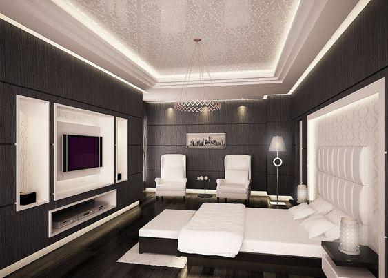 chambre coucher pour adulte dcoration de plafond plafond platre - Platre Plafond Chambre A Coucher