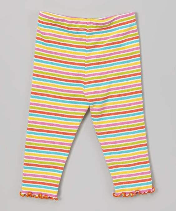 Look what I found on #zulily! Pink & Green Stripe Capri Pants - Toddler & Girls by Mis-Tee-V-Us #zulilyfinds
