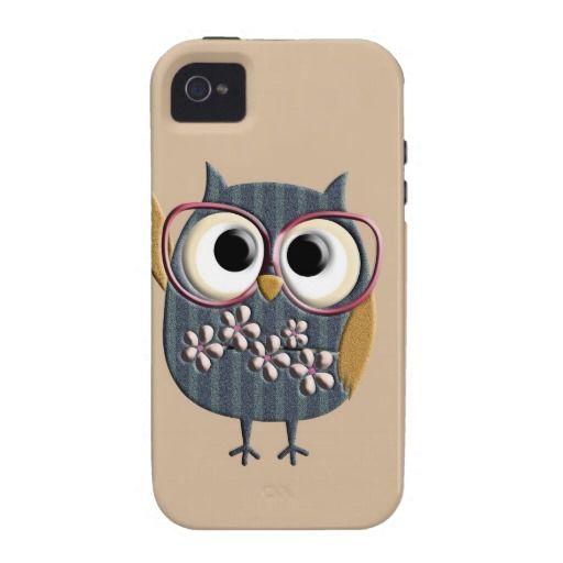 Retro Vintage Owl iPhone 4/4S Case