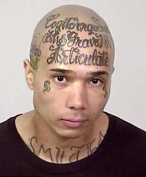 facial gang tattoos