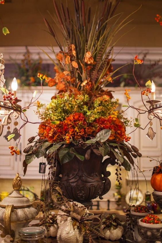 Thanksgiving Centerpieces And Tables On Pinterest
