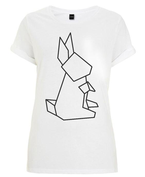 Origami Hase als Frauen T-Shirt von Eulenschnitt | JUNIQE