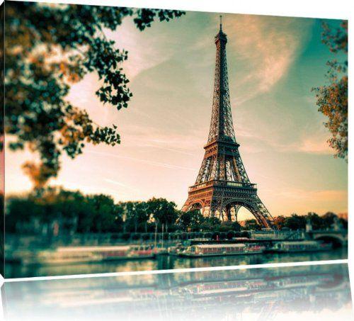 Perfect Eifelturm Paris Bild auf Leinwand XXL riesige Bilder fertig gerahmt mit Keilrahmen Kunstdruck auf Wandbild mit Rahmen guenstiger als Gemaelde oder Bild