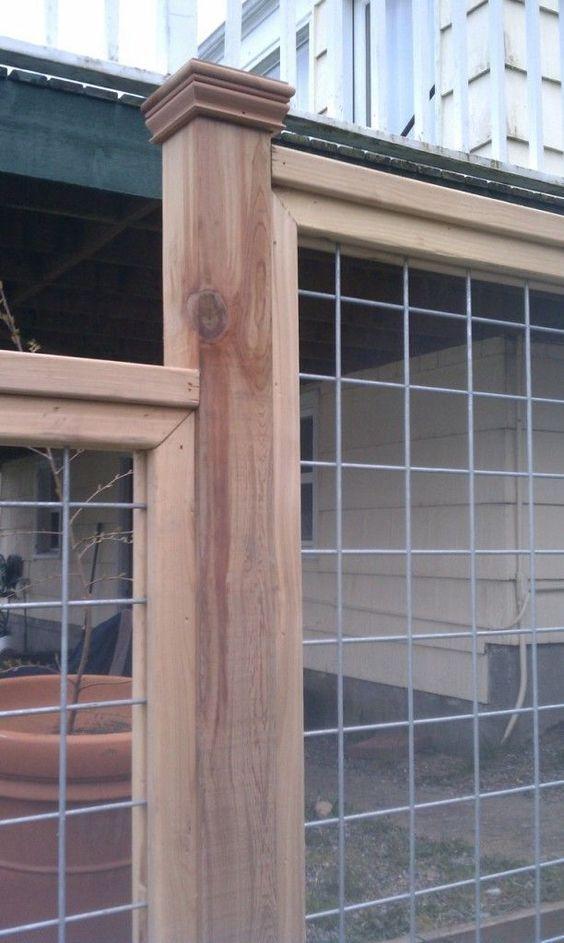 Inspiring 101 Diy Hog Wire Deck Railing Https Decoratio Co 2017 05 101 Diy Hog Wire Deck Railing Connectors H Fence Planning Backyard Fences Hog Wire Fence