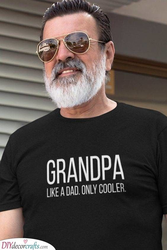 Cooler Than A Dad A Great T Shirt In 2020 Grandad Gift New Grandparent Gifts Grandparent Gifts