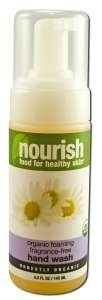 Foaming Fragrance-Free Hand Wash 5.5 fl. oz. 5.50 Ounces by Nourish. $10.64. Serving Size:. 5.5 Ounces. This gentle, moisturizing, self-foaming hand wash contains a rich blend of plant oils. Vegetable Protein Extract offers a natural enzyme to neutralize odors on hands. The foaming dispenser enables the soap to be dispersed thoroughly to optimally and quickly cleanse hands. Appreciate the soothing benefit of chamomile tea as you cleanse and deodorize hands.
