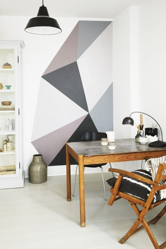 diy creer soi m me un mur graphique mur deco. Black Bedroom Furniture Sets. Home Design Ideas