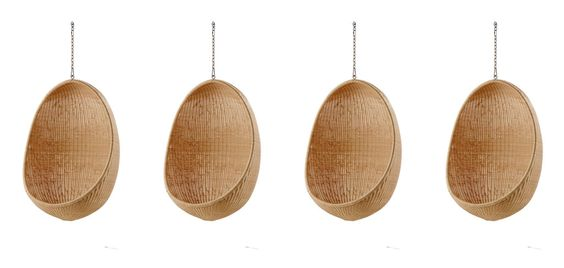 #SikaDesign #Egg_Chair by Nanna Ditzel. Most of us are familiar with the iconic design of the egg shaped chair floating in the air. The design of the Hanging Egg Chair has long since been dubbed timeless whereas the material rattan had its golden age in the 1960s when skilled wicker makers and architects crafted beautifully #sculptured #furniture out of the challenging material.