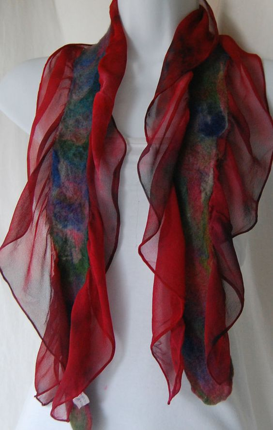 how to make nuno felted scarves