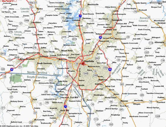 Charlotte Metro Area Map  Charlotte Lifestyle  Pinterest
