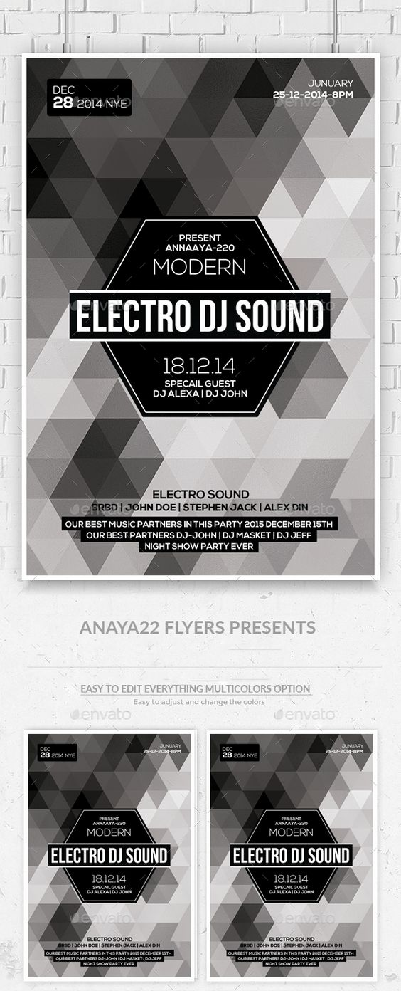 Minimal Geometric Flyer Psd  Minimal Flyer Template And Graphics