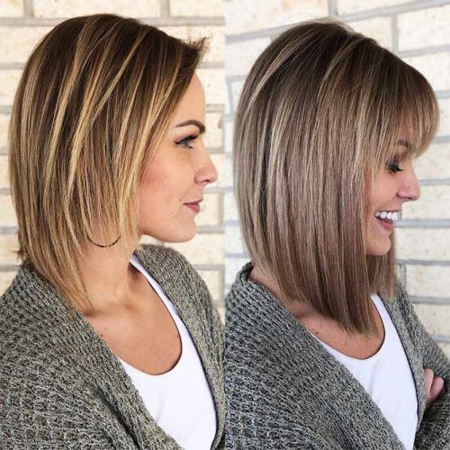 30 Amazing Ways To Style A Bob With Bangs Lovehairstyles Long Bob Hairstyles Thin Long Bob Hairstyles Bob Hairstyles With Bangs