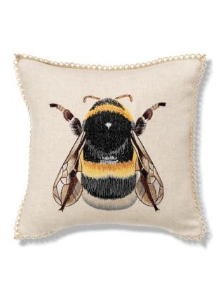 Embroidered Bumblebee throw cushion from Marks and Spencer