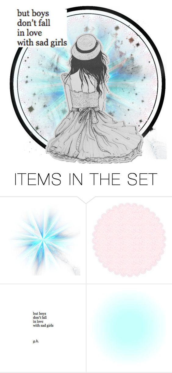 """How sad"" by marshmallowgoddess ❤ liked on Polyvore featuring art"