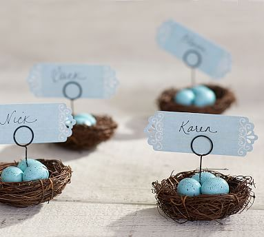 Nest Place Card Holder, Set of 4 #potterybarn: