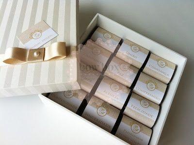 BOW BOX: Caixa com brownies aos casais de padrinhos