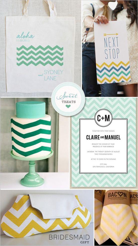Chevron Stripe Wedding Ideas