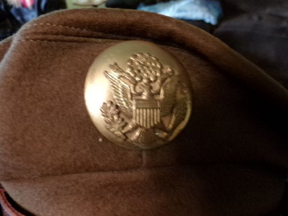 World War II Wool Army Officer Visor Cap Vintage by Morethebuckles