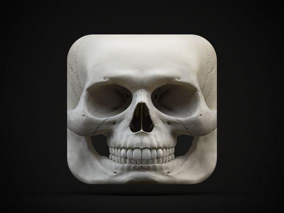 Skull iOS Icon by Simurg