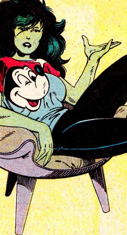 jthenr-comics-vault:  COMIC BOOK CLOSE UP S H U L K I EFantastic Four #275 (Feb. 1985)Art by John Byrne (pencils), Al Gordon (inks) & Glynis Wein (colors)