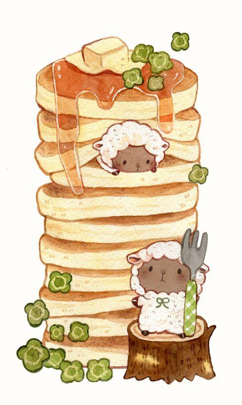 ひつじちゃんとホットケーキ
