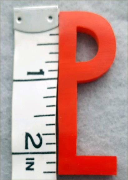 Red Bakelite Letter P Vintage 1930s Art Deco Initial