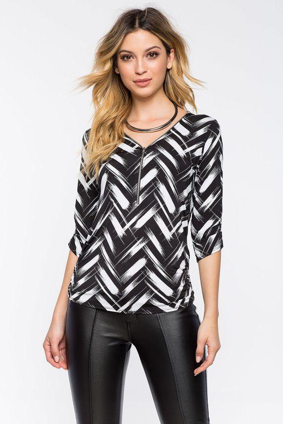 Блуза Размеры: S, M, L Цвет: черный с принтом Цена: 1353 руб.     #одежда #женщинам #блузы #коопт