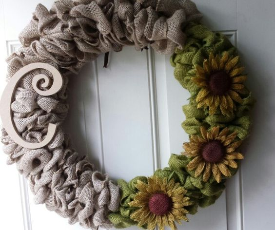 Burlap wire wreath