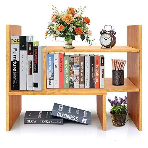Adjustable Desktop Bookshelf Desk Organizer Display Shelf Rack Counter Top Bookcase Free Style Display Shelf Rack Off Desktop Bookshelf Small Bookcase Shelves