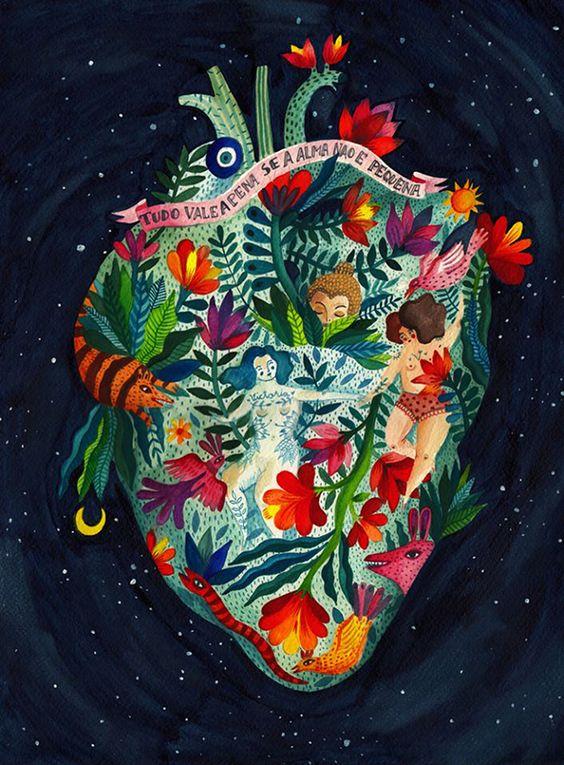 Ilustração da artista Romena, Aitch.: