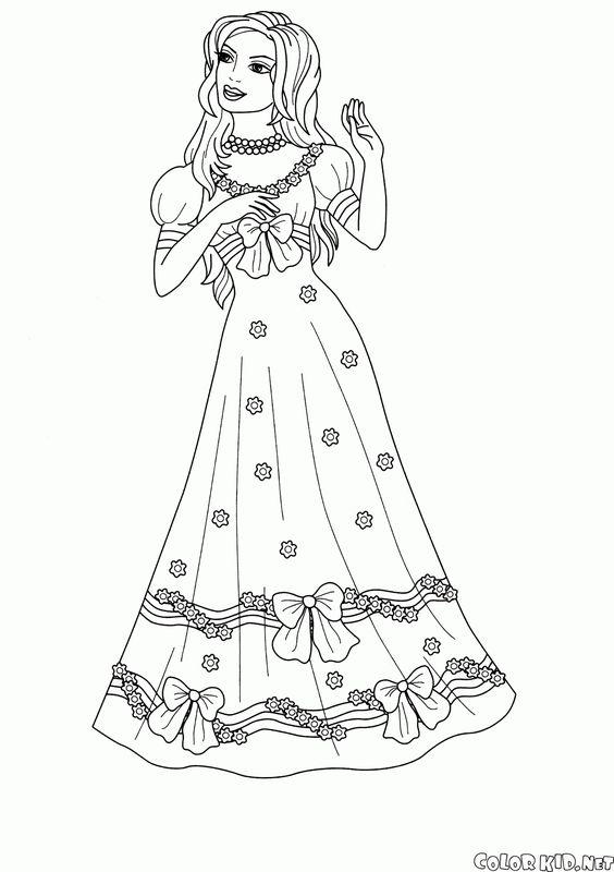 vetores para colorir de princesas - Pesquisa Google