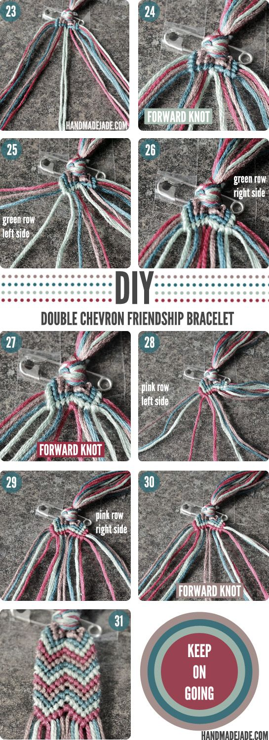 How to make chevron friendship bracelet - Seeing Double Chevron Friendship Bracelets Friendship Bracelets And Friendship