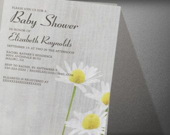 Daisies Baby Shower Invitation