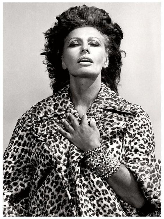 Sofia Loren by Helmut Newton