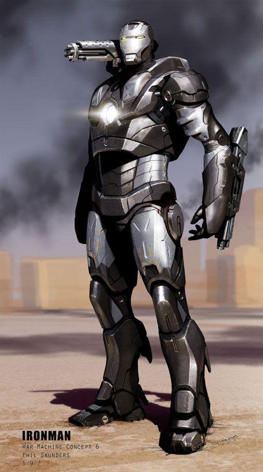 Concept art de War Machine para Iron Man