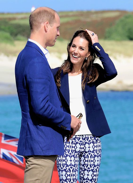 The Duke and Duchess of Cambridge visit the Island of St Martin's in the Scilly Isles on September 2, 2016 in St Martins, England.