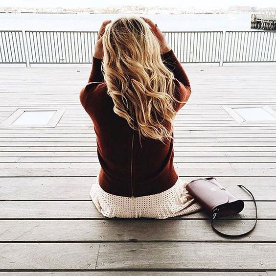 A picture perfect day. @laurenswells with our Push Lock in Oxblood