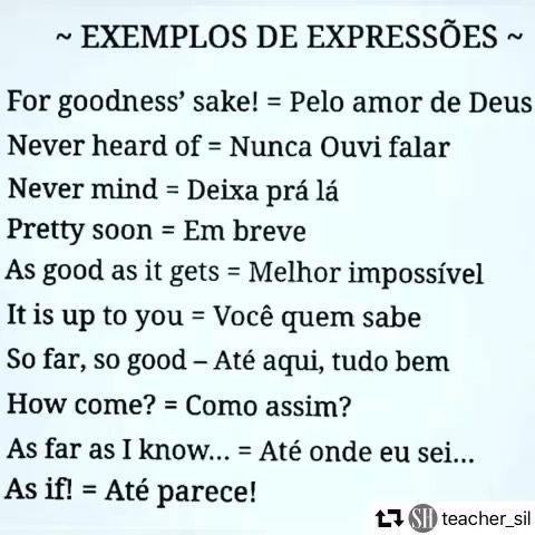 Exemplos De Expressoes Usadas No Dia A Dia Ligue O Som