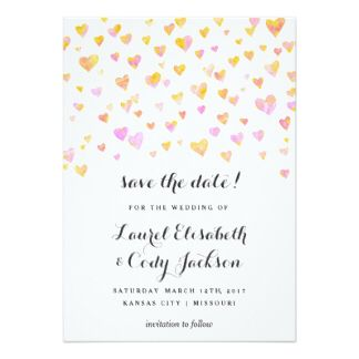 Prett pink and gold save the dates
