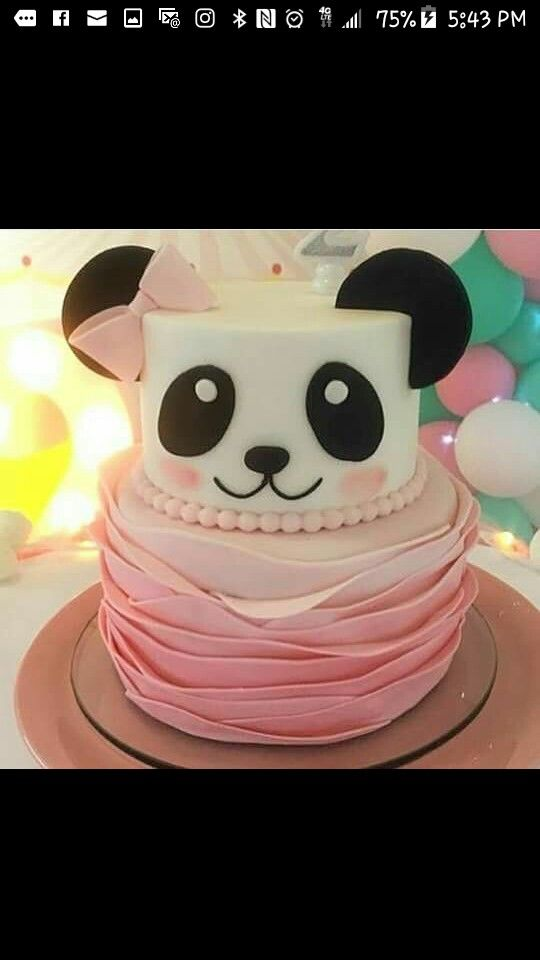 Pin By Neishma Torres On Cake With Images Panda Birthday Cake