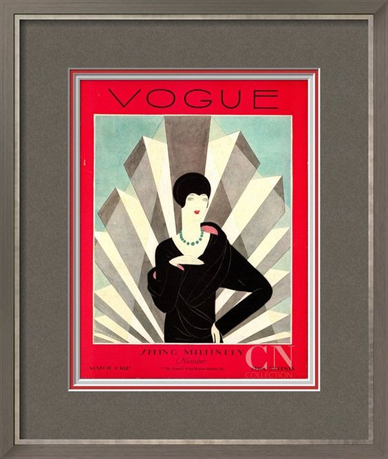 Vogue Cover - March 1927 Poster Print by Harriet Meserole at the Condé Nast Collection