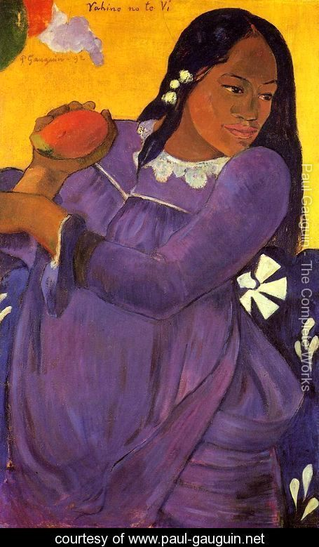 Vahine No Te Vi Aka Woman With A Mango - Paul Gauguin - www.paul-gauguin.net: